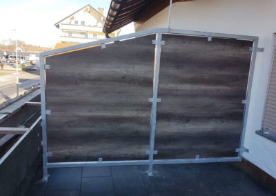 Metallbau: Trennwand Terrasse