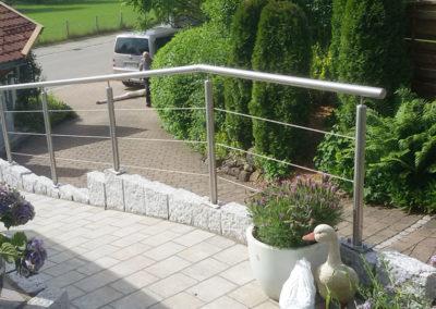 Metallbau: Geländer Außentreppe
