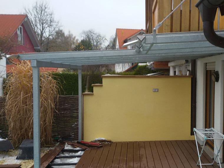 Metallbau Wölfle: Überdachung Terrasse