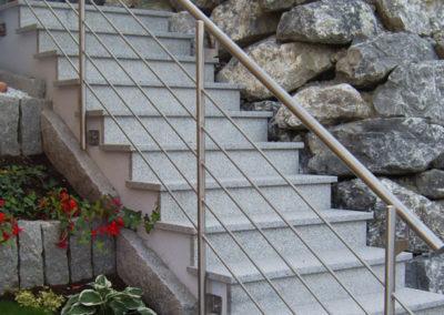 Metallbau: Außentreppe Geländer